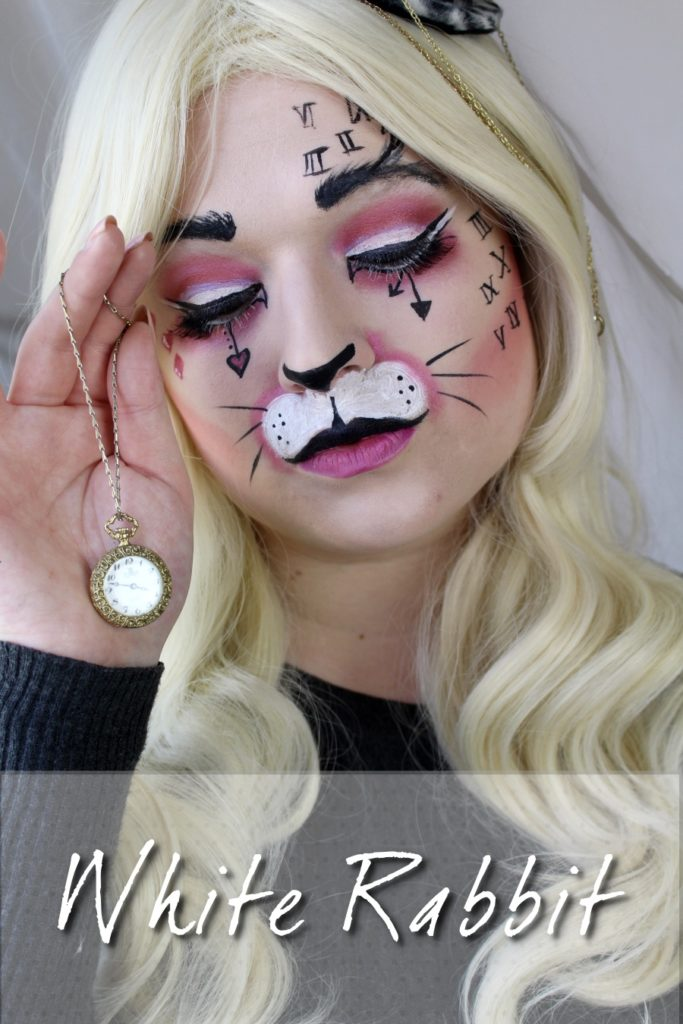 Alice in Wonderland White Rabbit Make UP